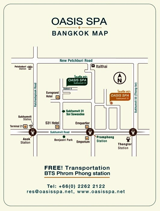 Oasis Spa in Bangkok_Map