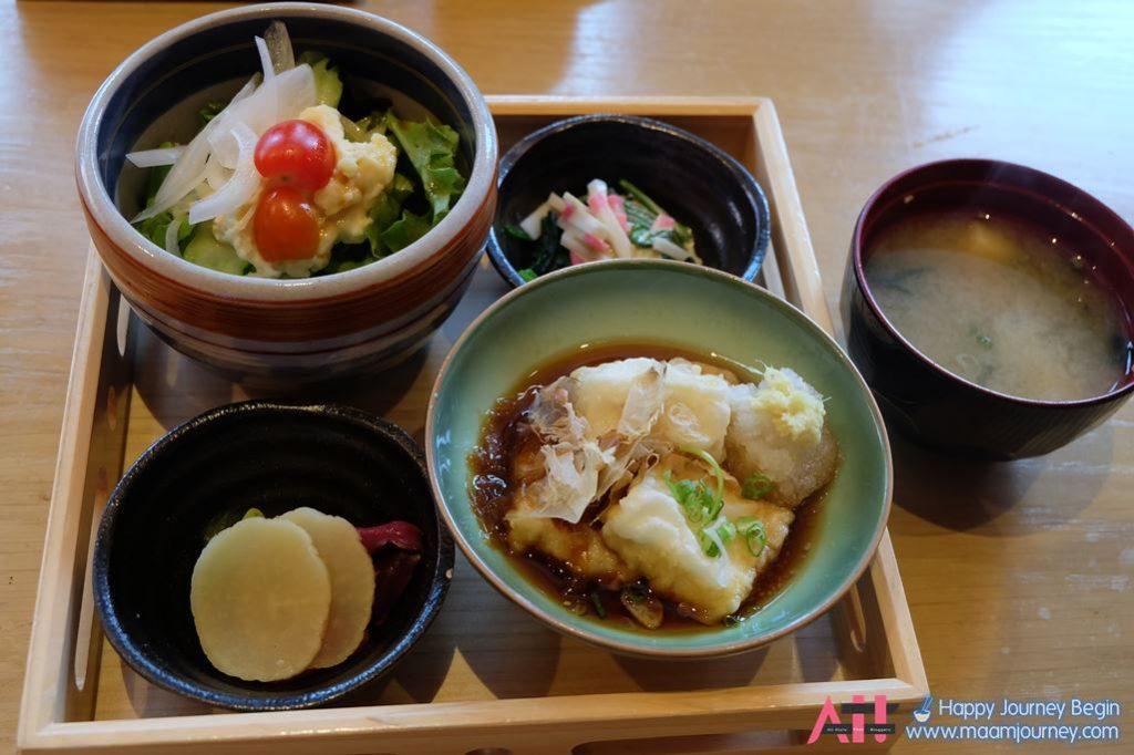 Lunch Set_Appitizer_Agedashi Tofu_Miso Shiru