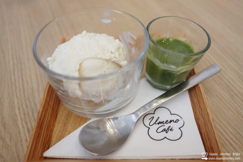 Umeno Cafe_Affogato_Tonyu Ice-cream with Matcha Sauce