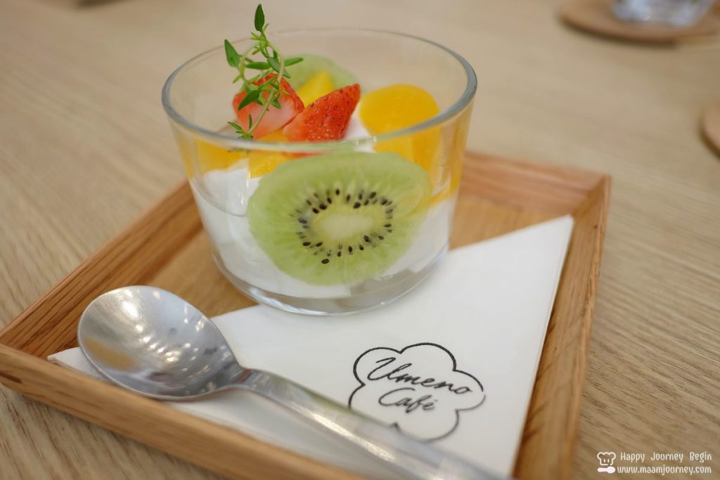 Umeno Cafe_Mineoka Pudding Mixed Fruits