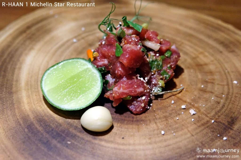 R-HAAN 1 Michelin Star Restaurant_Black Angus ก้อยเนื้อแบล็คแองกัส