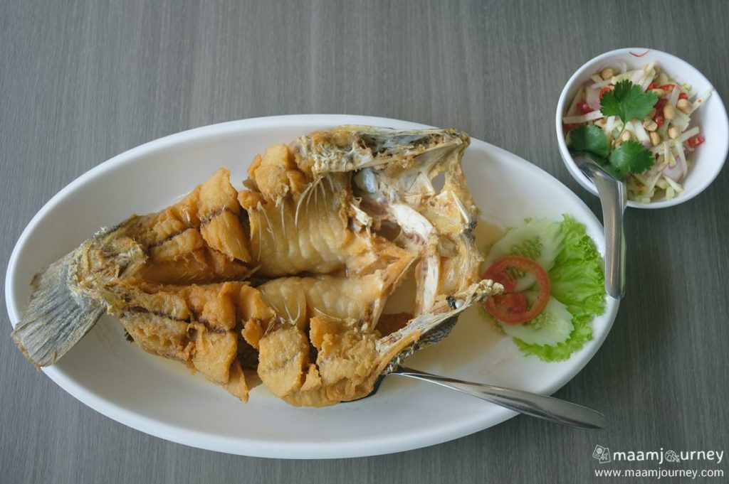 Kungthong Seafood_กุ้งทอง_ปลากะพงทอดน้ำปลา
