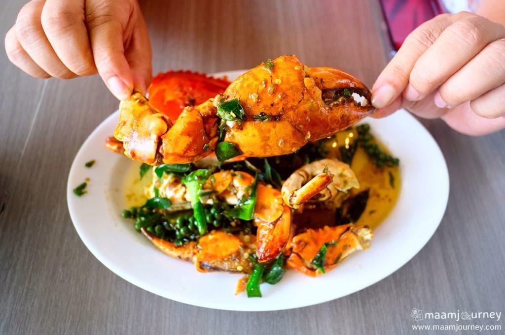 Kungthong Seafood_กุ้งทอง_ปูเนื้อผัดพริกขี้หนูสวน_2
