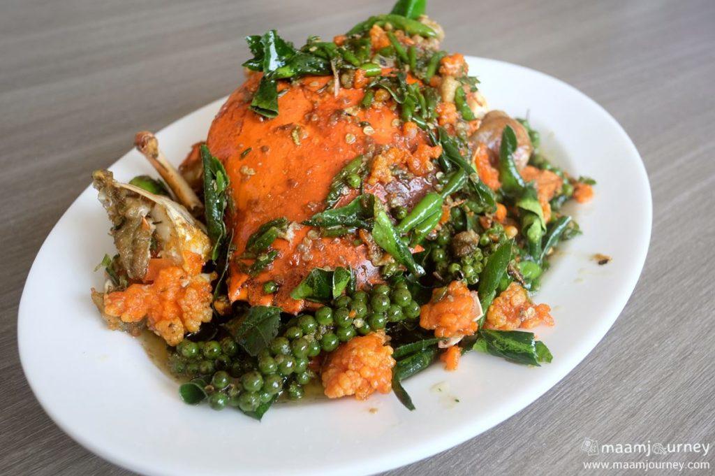 Kungthong Seafood_กุ้งทอง_ปูไข่ผัดพริกขี้หนูสวน_2