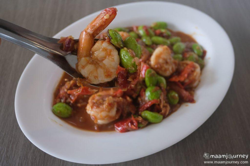 Kungthong Seafood_กุ้งทอง_ผัดสะตอกะปิกุ้งแชบ๊วย_2