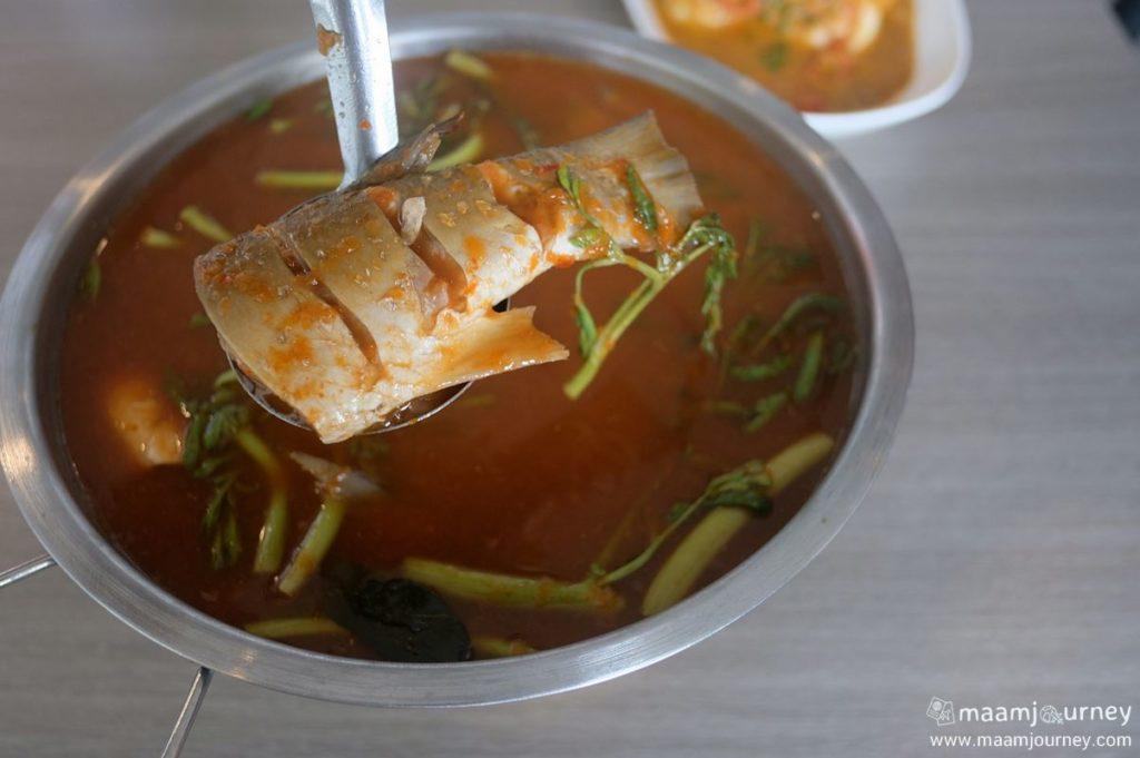 Kungthong Seafood_กุ้งทอง_แกงส้มปลากระบอกโบราณ