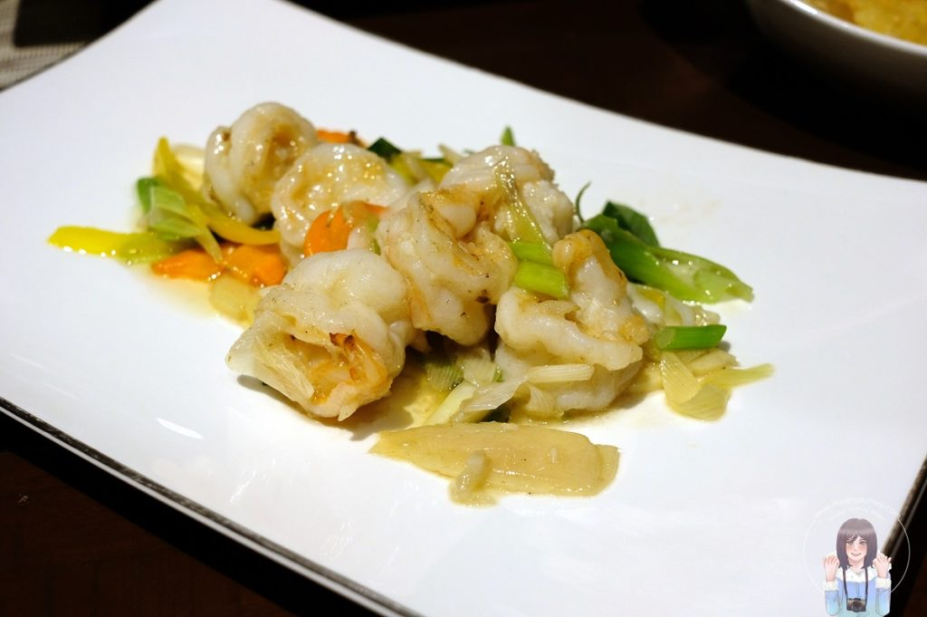 Wok Fried Prawns with Spring Onion and Ginger
