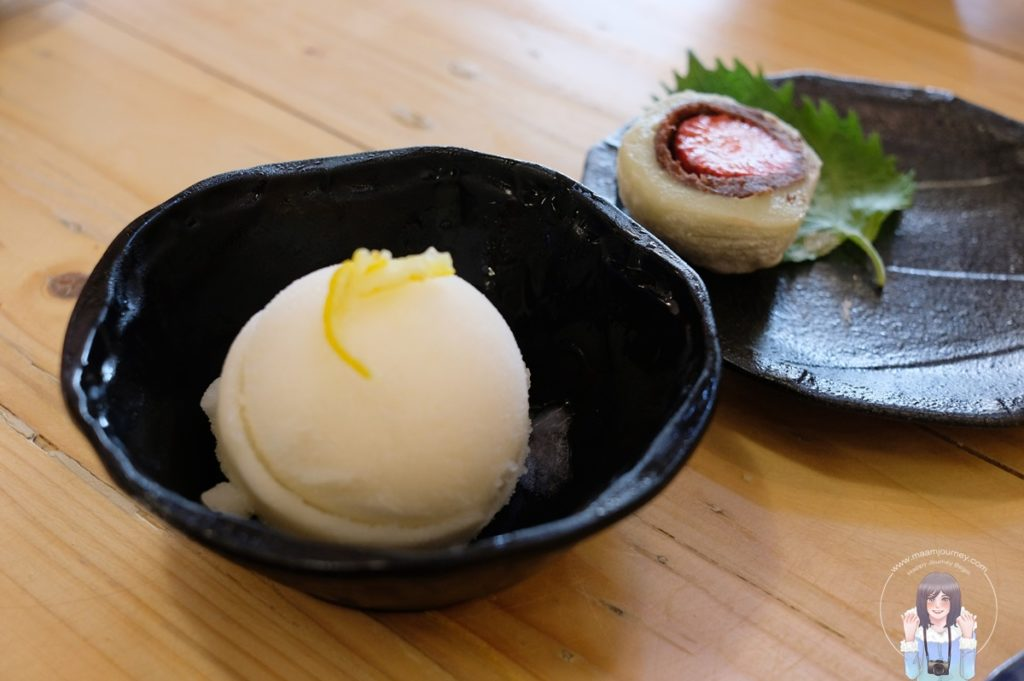 Homemade Ice Cream Yuzu Sorbet (67 บาท)