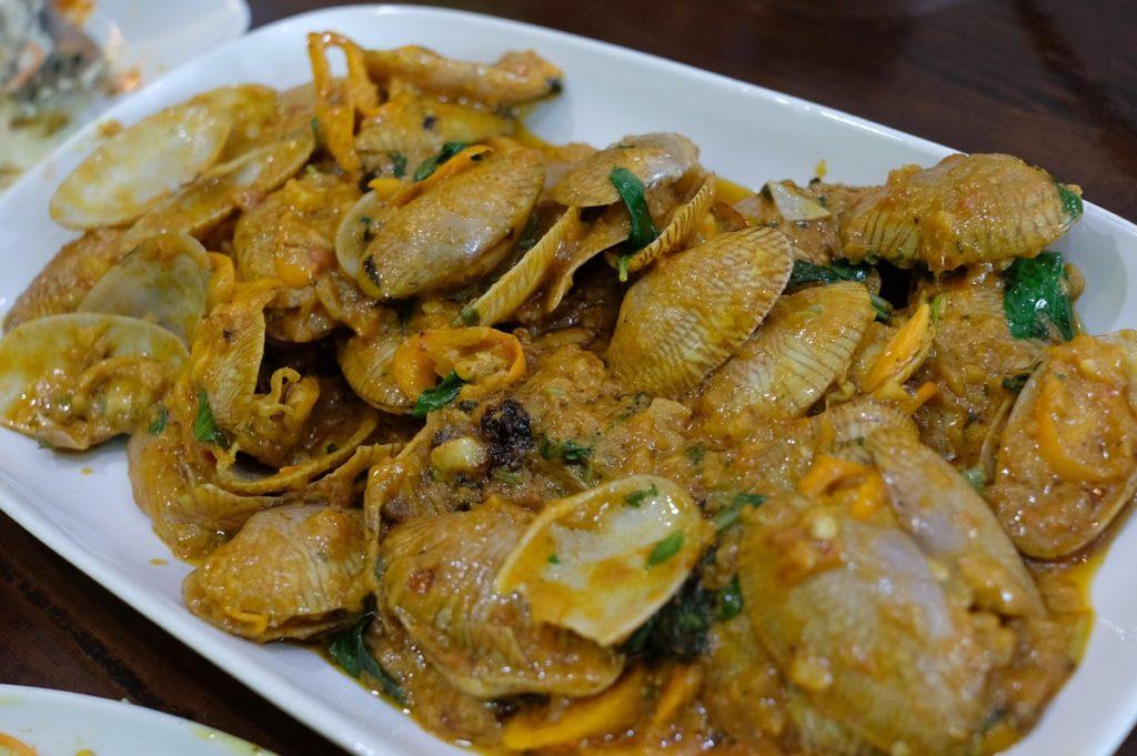 Clam curry แกงอินเดียใส่หอยลาย 180 บาท