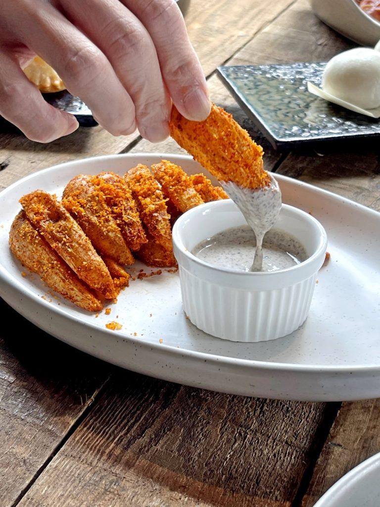 โปเตโต้เวจทรัฟเฟิลดิป Potato Wedges with Truffle Dip
